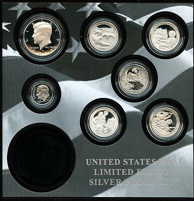 2017-S United States Mint Limited Edition Silver Proof Set W/O $1 Coin BN688