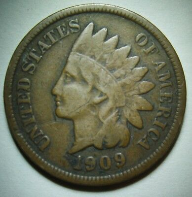 1909 Indian Head Cent in Average Circulated Condition    DUTCH AUCTION
