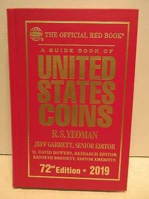 2019 Official Red Book A Guide Book Of United States Coins Hardcover 72nd  2018