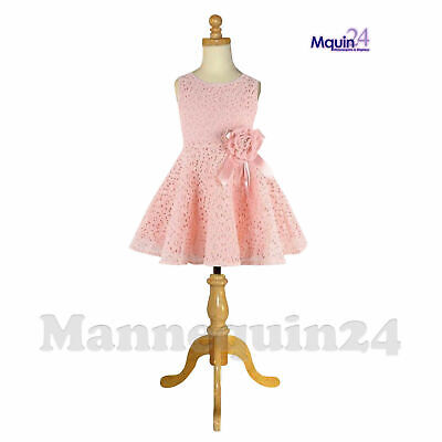 KIDS MANNEQUIN 5-6 YRS CHILD DRESS DRESS FORM with WOODEN TRIPOD BASE