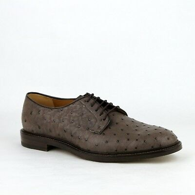 d620cdb63aa Gucci Men s Cocoa Brown Ostrich Leather Oxford Shoes 10   US 11 295618 2140