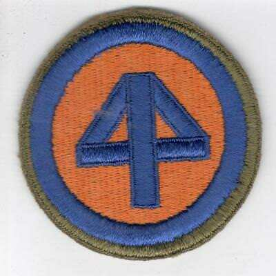 WW 2 US Army 44th Infantry Division OD Border Greenback Patch Inv# C513