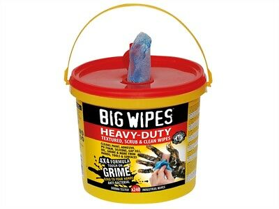 Big Wipes - 4x4 Heavy-Duty Cleaning Wipes Bucket of 240