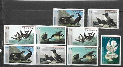 pk34752:Stamps-Canada #1979-1983 Audubon Birds Issues - MNH