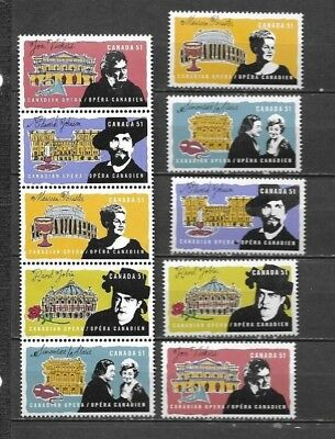 pk34758:Stamps-Canada #2178-2182a Opera Issues- MNH