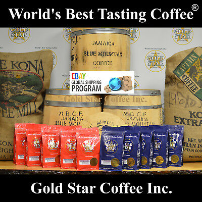 Jamaica Jamaican Blue Mountain & Hawaiian Kona Coffee Combo - Global Shipping