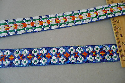Vintage Embroidered Cotton Austrian Trim. 60's, 70's. 20mms. x 3 Meters