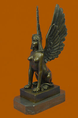 Handcrafted Museum Quality Classic Egyptian Style Art Deco Sphinx Bronze Figure