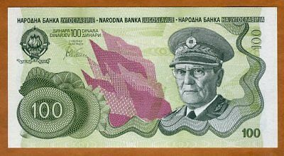 Yugoslavia, 100 Dinara, ND (1990), P-101A, UNC > Not Issued, Ultra Low S/N