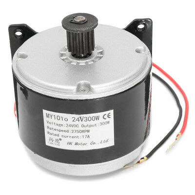 24V DC Electric Motor Brushed 300W 2750RPM 2-Wired Chain For E Bike Scooter US