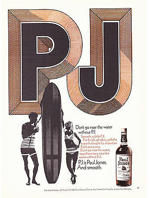 Original Print Ad-1970 Don't go near the water without PJ-Surf-PJ is Paul Jones