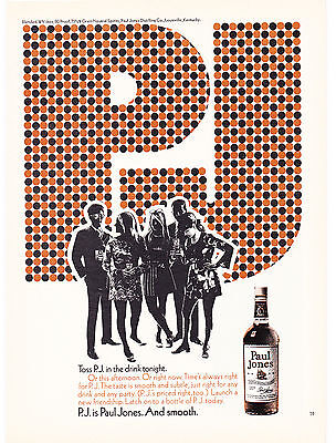 Original Print Ad-1970 Black & Orange P.J. is Paul Jones. And Smooth-B&W Mingle