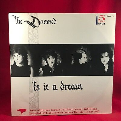 THE DAMNED Is It A Dream 1985 UK 5-track  12'' vinyl single EXCELLENT CONDITION