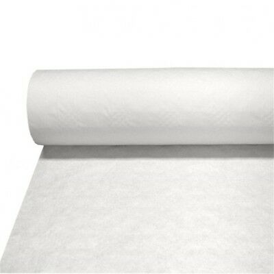 Udl White Damask Banqueting Roll - 25m - Banquet Paper 118cm Wide Embossed