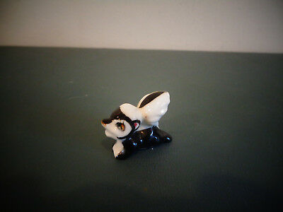Hagen Renaker ? Miniature Bone China Skunk Figurine