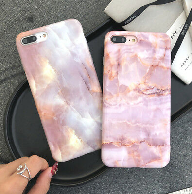 Pink marble Soft Silicone Griotte Pattern Phone case for iphone 6 6s 7 8 plus X