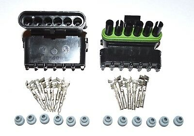 Delphi Weather Pack 6 Pin  Conductor Connector Kit 16- 14Ga Ws 2 Pack - Two Sets