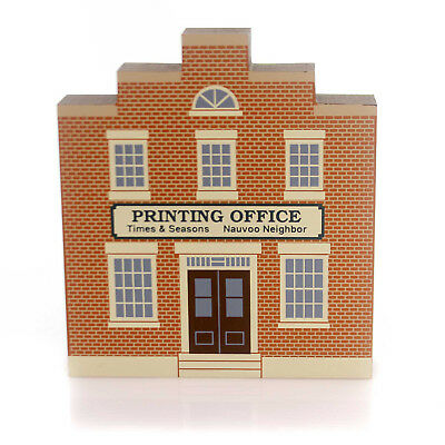 Cats Meow Village PRINTING OFFICE Wood Historic Nauvoo Retired 3953