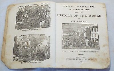 RARE 1833 PETER PARLEY'S METHOD OF TELLING ABOUT THE HISTORY OF THE WORLD Book