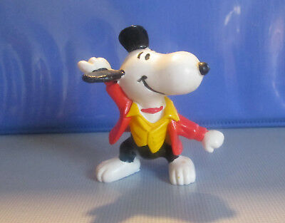 Vintage SNOOPY Figurine Red Sports Coat & Yellow Vest PVC/Rubber Dated 1958:66