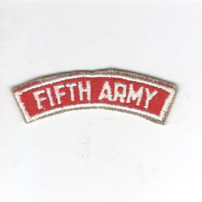US Army Recruiting Service Command 5th Army Tab Inv# Z148