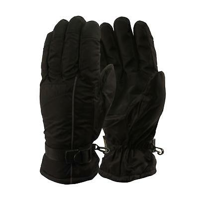 Men's Winter Waterproof Palm Grip Thinsulate 3M Lined Ski Snow Gloves Black L