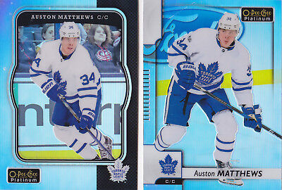 17-18 OPC Platinum Auston Matthews Retro Rainbow OPEECHEE Maple Leafs 2017
