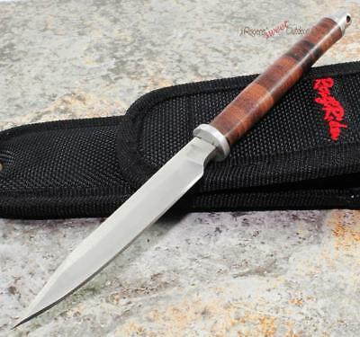 Rough Rider Slim Pen Design Stacked Leather Fixed Blade Knife Letter Opener