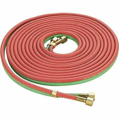 """Red & Green  Twin Welding Torch Hose Oxygen Acetylene Oxy 25' 1/4"""" for Cutting"""
