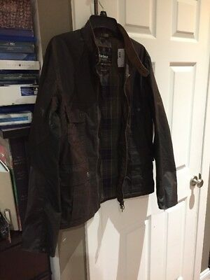 Barbour International Steve McQueen Chico Olive Waxed Cotten Jacket Bnwt L Large