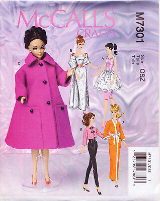 SIMPLICITY SEWING PATTERN 5807 BARBIE/KEN FASHION DOLL CLOTHES RETRO ...