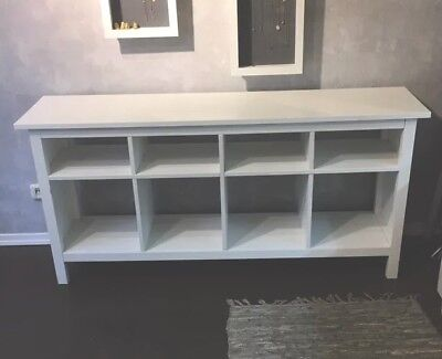 ikea hemnes sideboard lowboard kommode regal weiss shabby landhaus eur 90 00 picclick de. Black Bedroom Furniture Sets. Home Design Ideas
