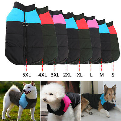 Dog Pet Coats Jackets Warm Padded Winter Puffer Clothes Smooth Apparel Costume