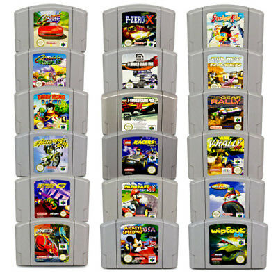 N64 Spiel PAL Diddy Kong Racing Extreme-G F1 Lego Racers Mario Kart Wave Race