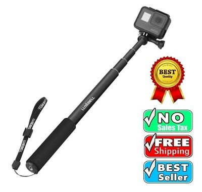 GoPro Hero 5 Sessions Selfie Stick Adjustable Telescoping Monopod Pole Black *
