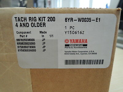 Yamaha Outboard 6Yr-W0035-E1-00 Tach Rig Kit 2004 And Older
