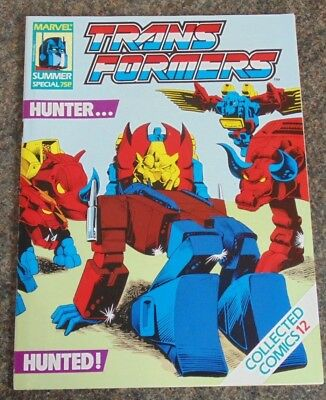 Transformers June 1989 Uk Marvel Comic Special Collected Edition 12 Unused