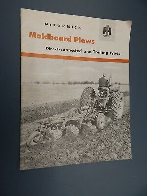 McCORMICK MOLDBOARD PLOWS Connected & Trailing SALES BROCHURE IHC HARVESTER