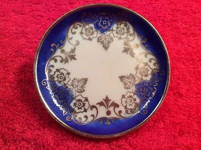 Lovely German Porcelain Butter Pat, p201  GIFT QUALITY!!