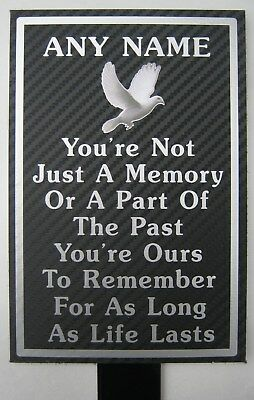 Weatherproof Metal Memorial Plaque Personalised ANY NAME In Loving Memory