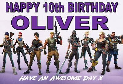 FORTNITE Personalised Birthday Card!! ANY NAME / AGE / RELATION GREAT !!!!! (2)