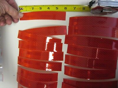 """20 Pcs RED  Reflective   Conspicuity Tape Strips 1-1//2/""""x 6/"""""""