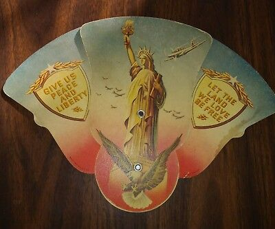 Patriotic Funeral Fan Liberty Fighter Planes Madison WI WWII