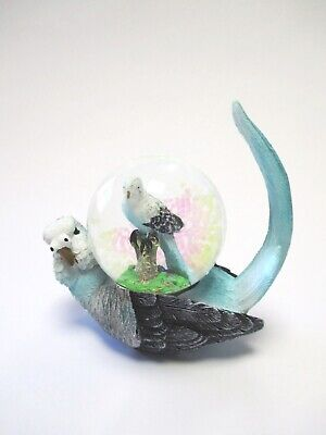 Wellensittich blau Vogel Schneekugel Tierfigur Snowglobe Neues Design