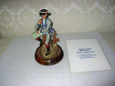 Williamsburg Royal Doulton Soldiers Of The Revolution New Jersey Major Ltd Ed