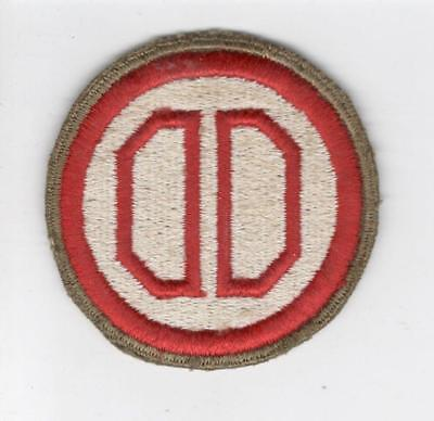 WW 2 US Army 31st Infantry Division OD Border Greenback Patch Inv# C630