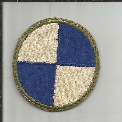 WW 2 US Army 4th Corps Greenback Patch Inv# H284