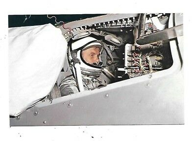 Vintage POSTCARD NASA Lt Col John Glenn In Space Training Capsule Mercury