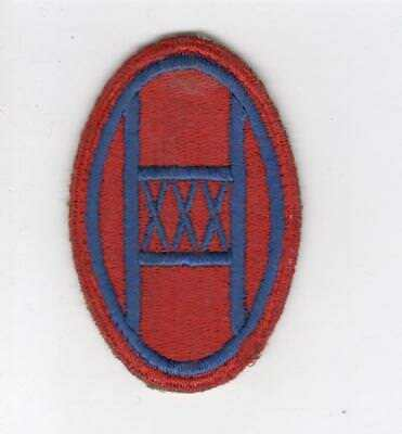 WW 2 US Army 30th Infantry Division Red Border Patch Inv# C642