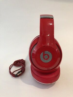 AUTHENTIC BEATS BY Dr  Dre Studio Wired Headphones - Red - Works